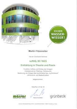grünbeck Zertifikat